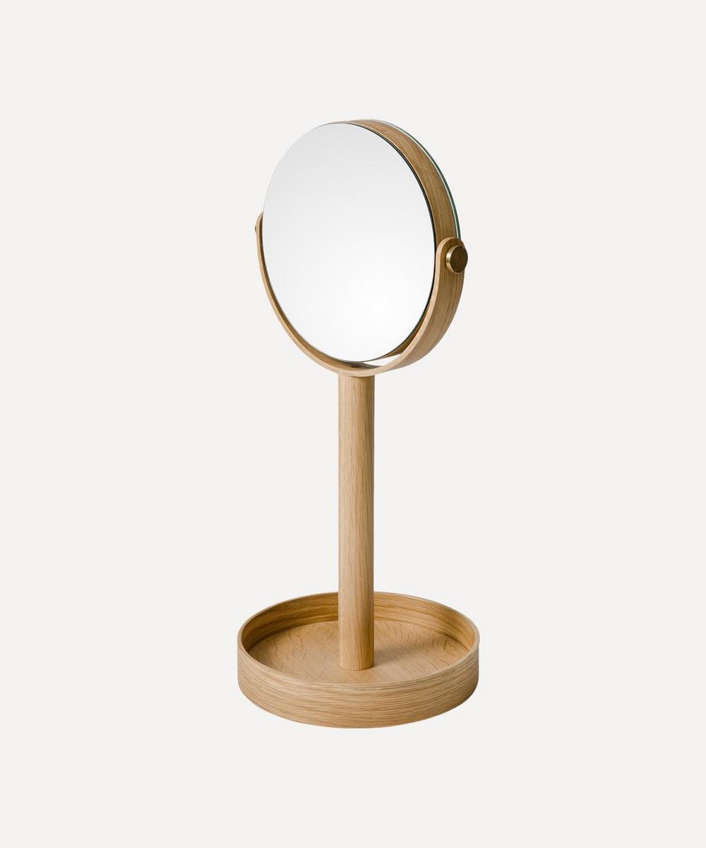 Wireworks - Natural Oak Magnify Mirror