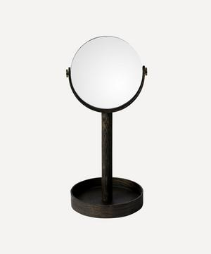 Dark Oak Magnify Mirror