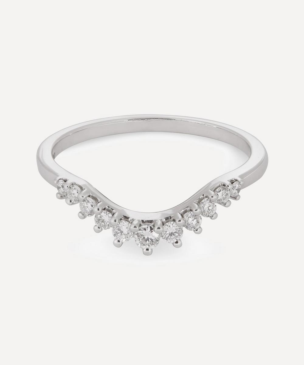 Anna Sheffield - White Gold Tiara Curve Diamond Ring