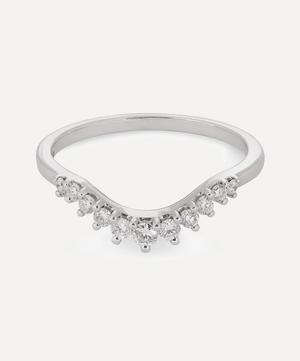White Gold Tiara Curve Diamond Ring