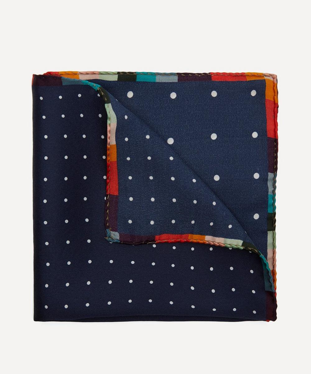 Paul Smith - Polka Dot Artist Stripe Silk Pocket Square