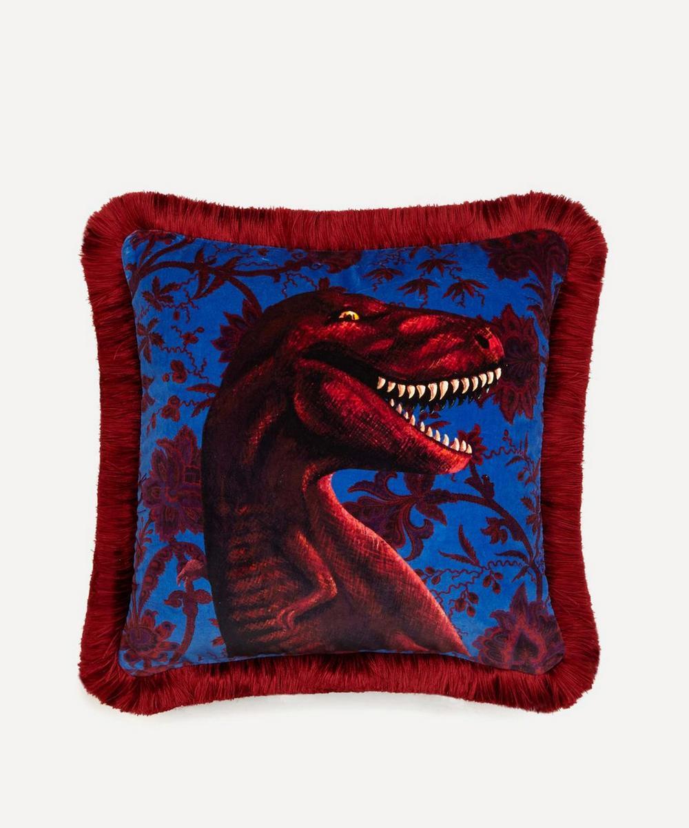 House of Hackney - Rex Medium Fringed Velvet Cushion