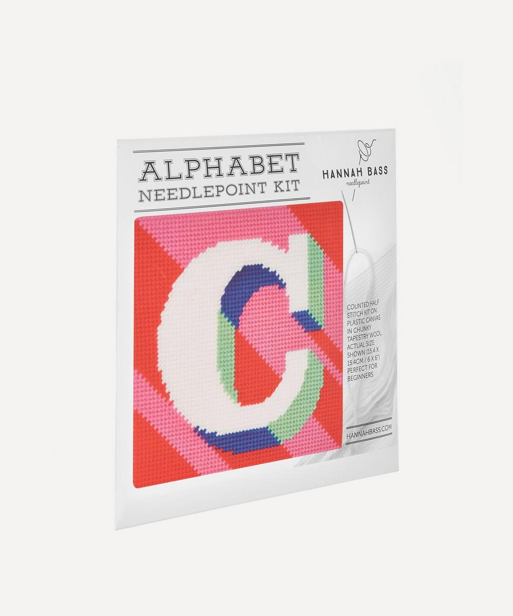 Hannah Bass - Letter 'C' Needlepoint Kit