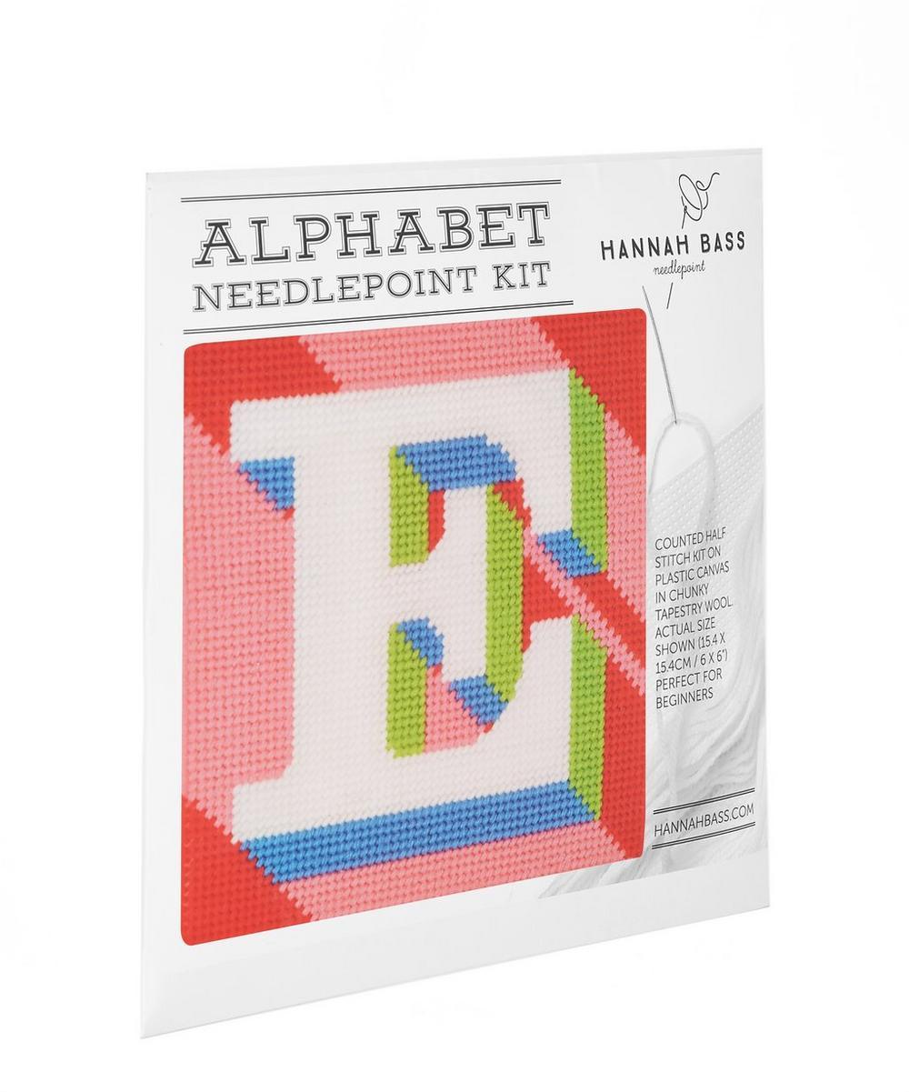 Hannah Bass - Letter 'E' Needlepoint Kit