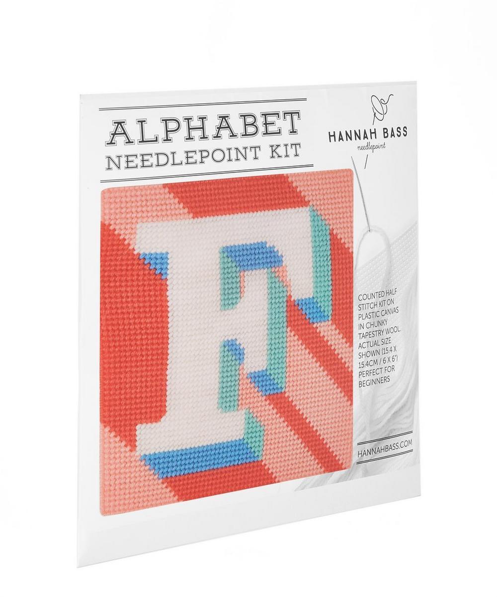 Hannah Bass - Letter 'F' Needlepoint Kit