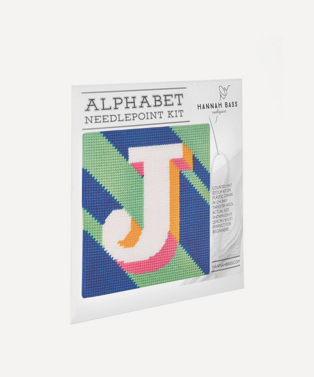 Hannah Bass - Letter 'J' Needlepoint Kit