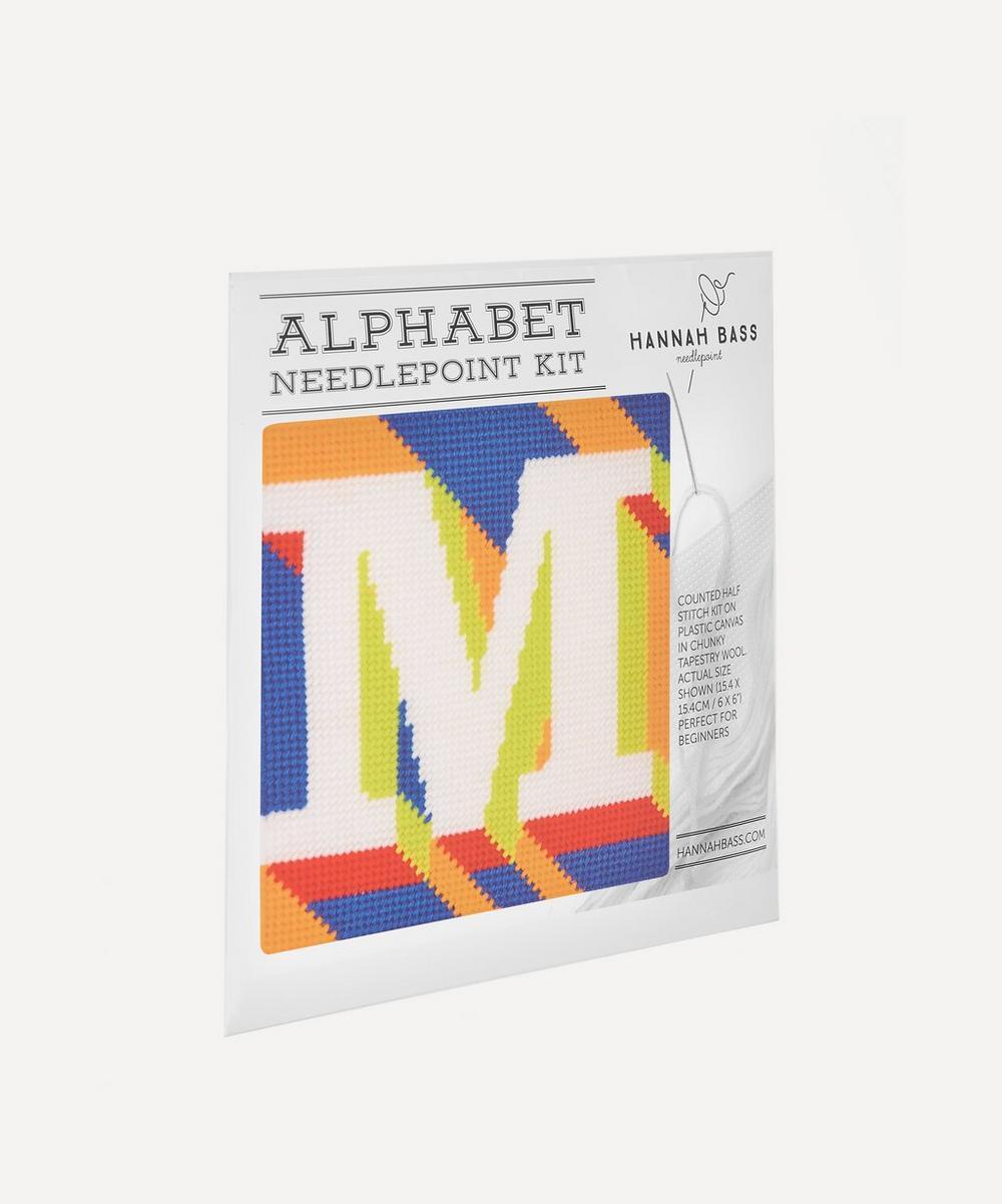 Hannah Bass - Letter 'M' Needlepoint Kit