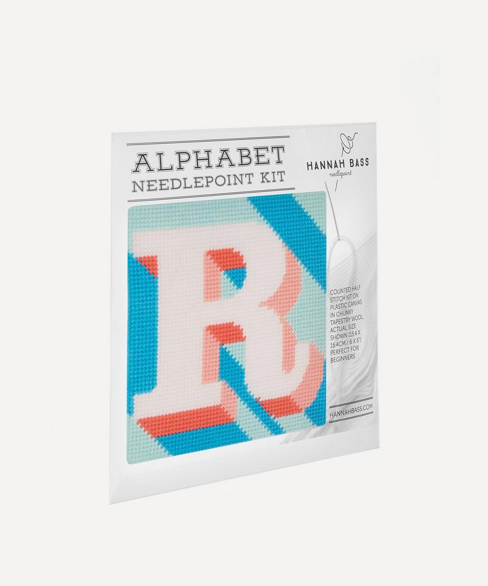 Hannah Bass - Letter 'R' Needlepoint Kit