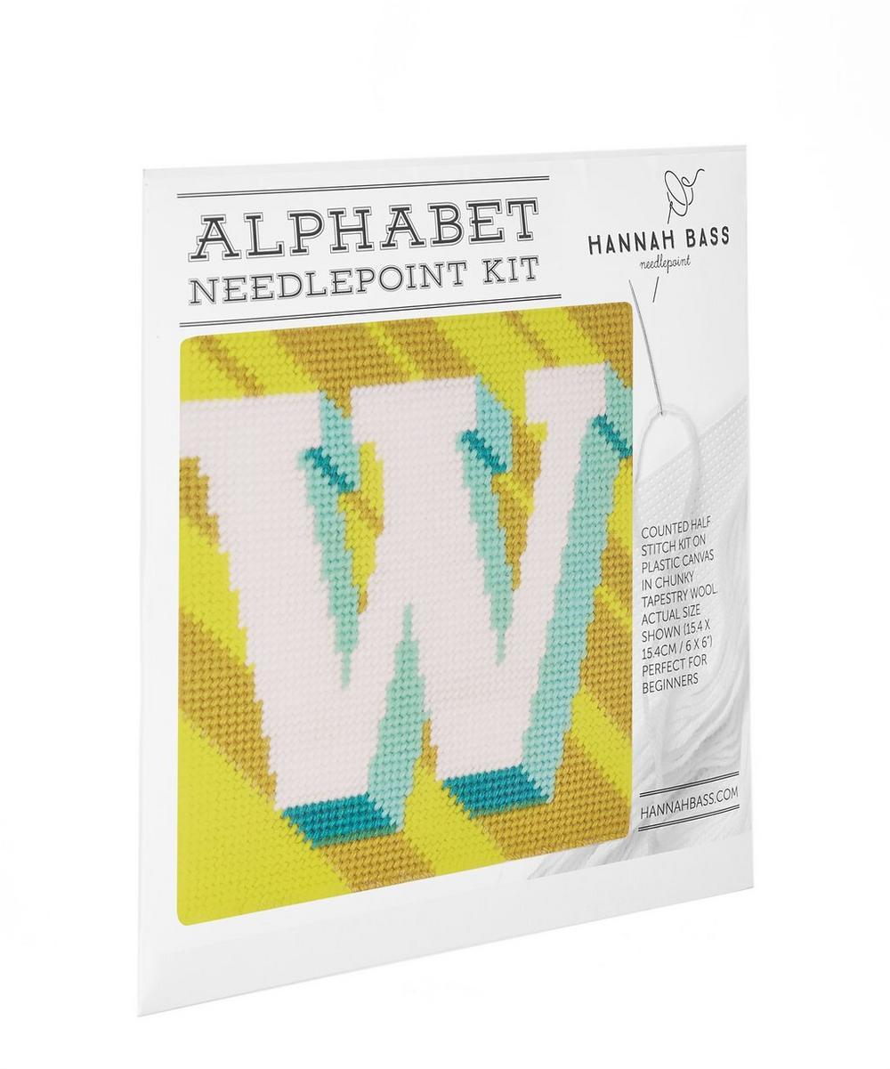 Hannah Bass - Letter 'W' Needlepoint Kit