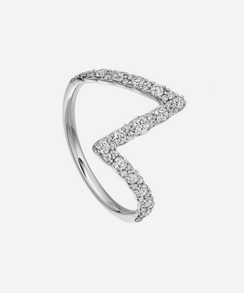 Astley Clarke - White Gold Flash Interstellar Diamond Ring