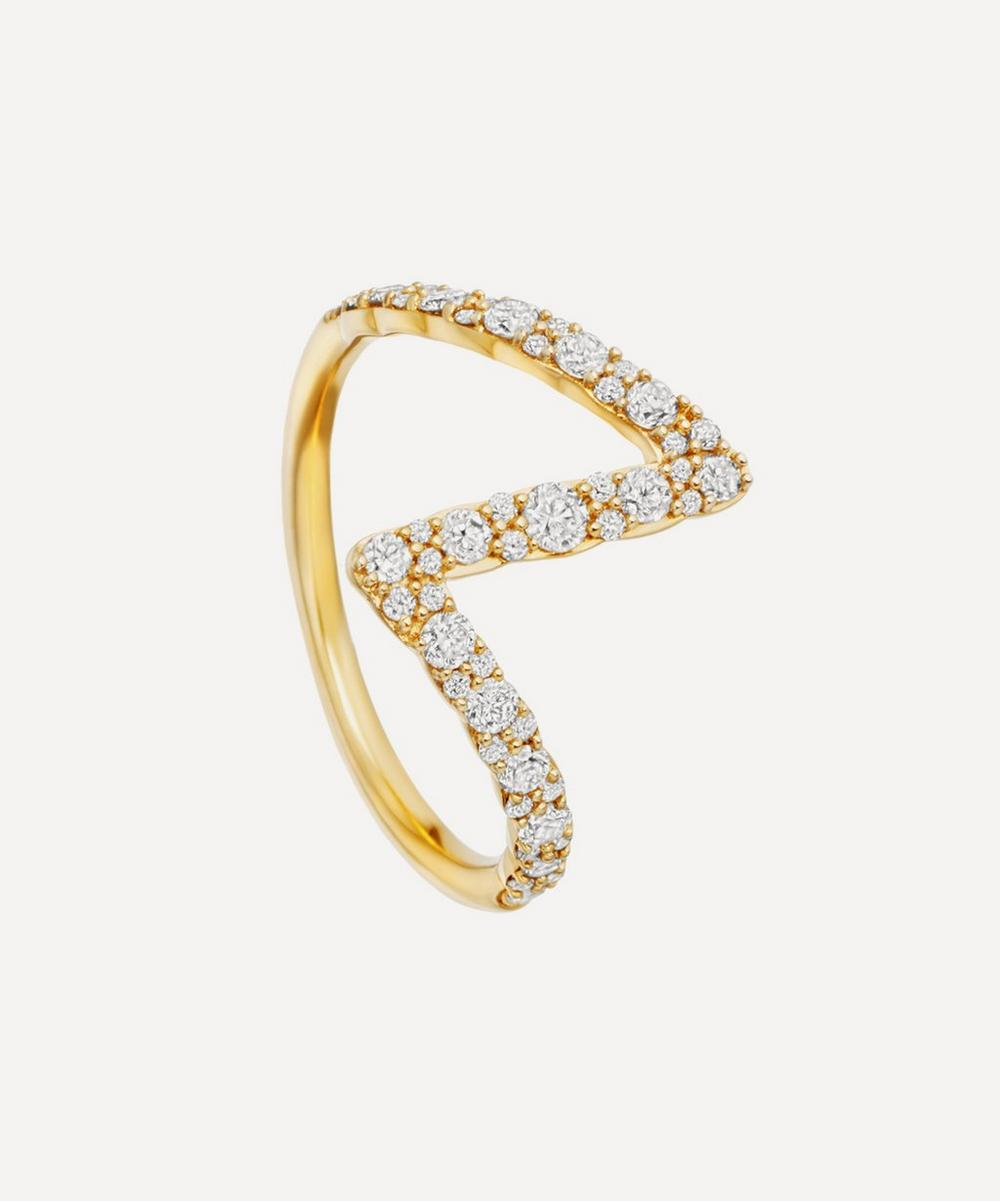 Astley Clarke - Gold Flash Interstellar Diamond Ring