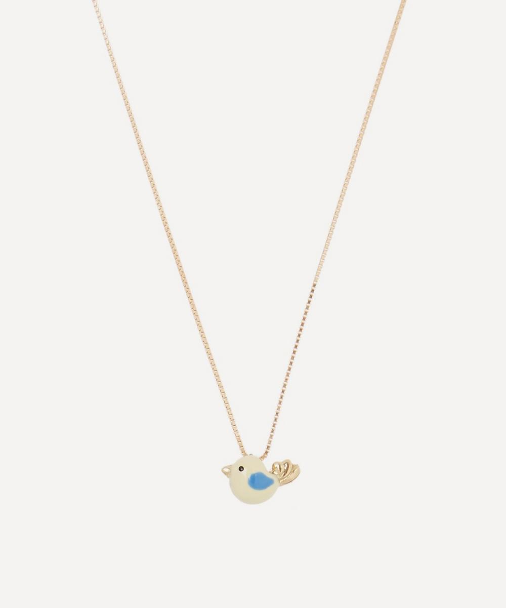 Atelier VM - Gold Canarino Enamel Bird Necklace