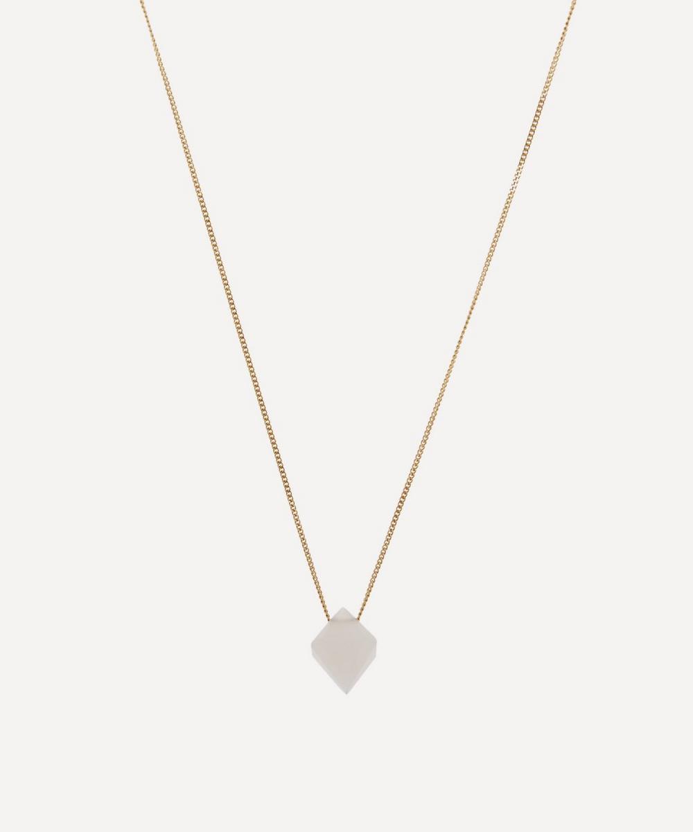 Atelier VM - Gold Cristal Moonstone Pendant Necklace