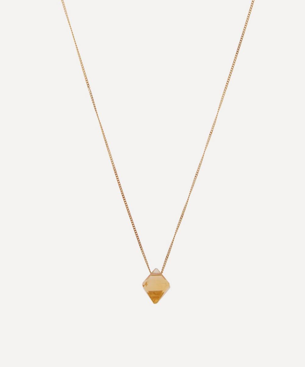Atelier VM - Gold Cristal Citrin Quartz Pendant Necklace