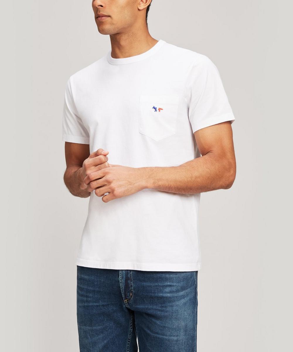 Maison Kitsuné - Tricolour Fox Pocket Cotton T-Shirt