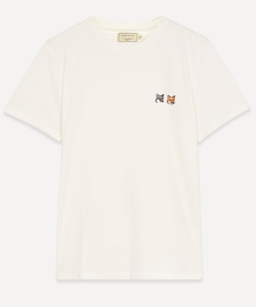 Maison Kitsuné - Double Fox Head Logo Cotton T-Shirt