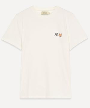 Double Fox Head Logo Cotton T-Shirt