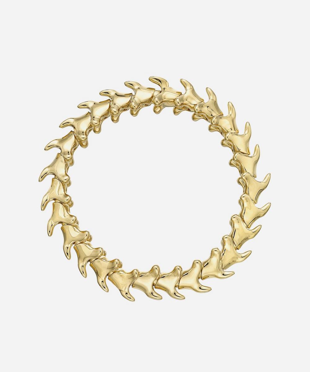 Shaun Leane - Gold Plated Vermeil Silver Serpents Trace Wide Bracelet