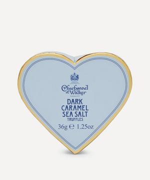 Mini Heart Dark Chocolate and Sea Salt Caramel Truffles 36g