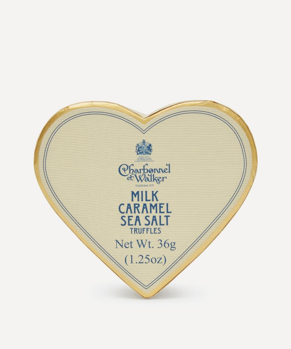 Charbonnel et Walker - Mini Heart Milk Chocolate and Sea Salt Caramel Truffles 36g