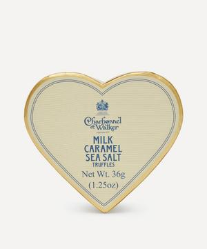 Mini Heart Milk Chocolate and Sea Salt Caramel Truffles 36g