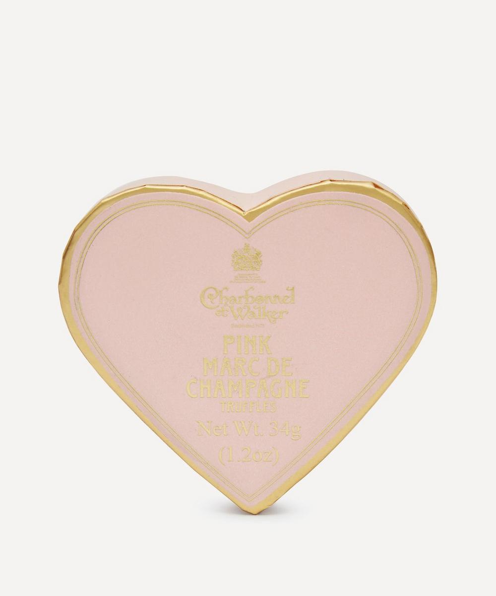 Charbonnel et Walker - Mini Heart Pink Marc de Champagne Truffles 34g