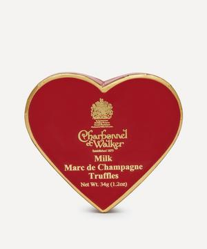 Mini Heart Red Marc de Champagne Truffles 34g