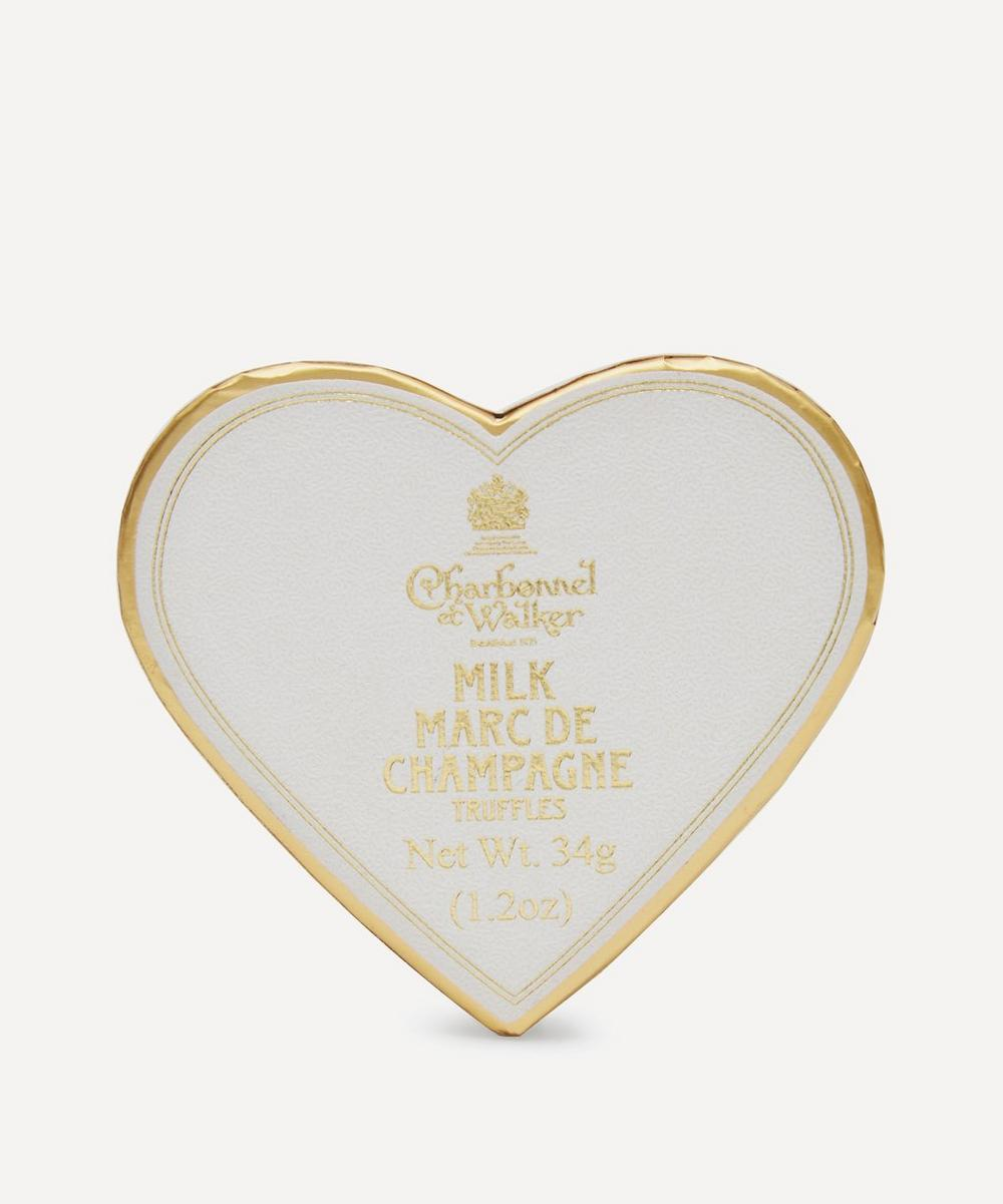 Charbonnel et Walker - Mini Heart White Marc de Champagne Truffles 34g