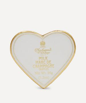 Mini Heart White Marc de Champagne Truffles 34g