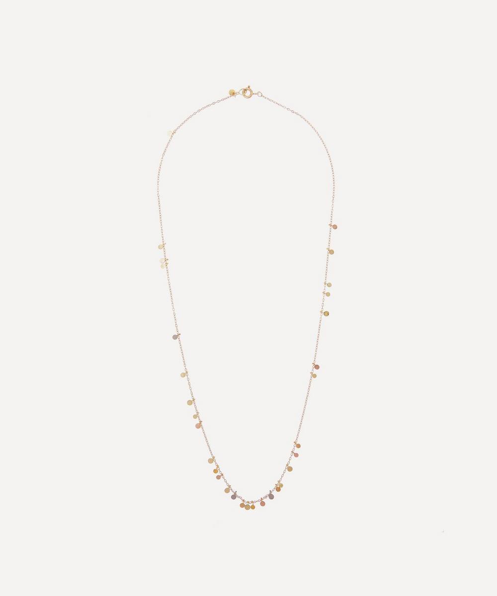 Sia Taylor - Gold Rainbow Random Dots Necklace