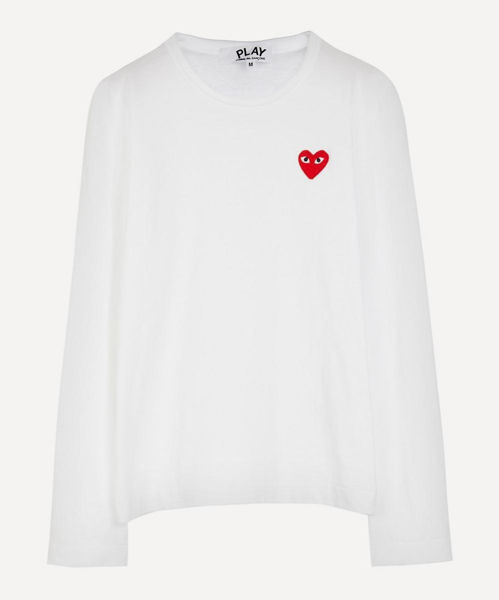 Comme des Garçons Play - Heart Long Sleeve Cotton T-Shirt
