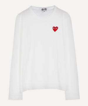 Heart Long Sleeve Cotton T-Shirt