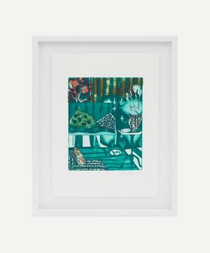 Rose Electra Harris 'Green Carnations' Framed Original Artwork