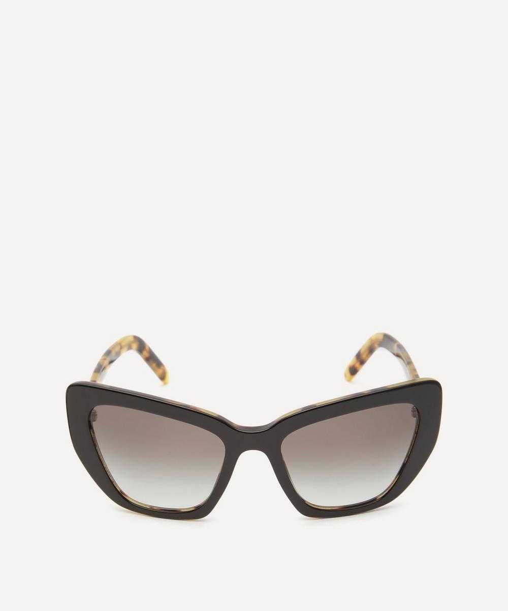 Prada - Oversized Geometric Two-Tone Sunglasses