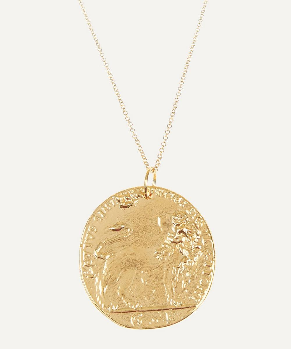 Alighieri - Gold-Plated Il Leone Medallion Necklace
