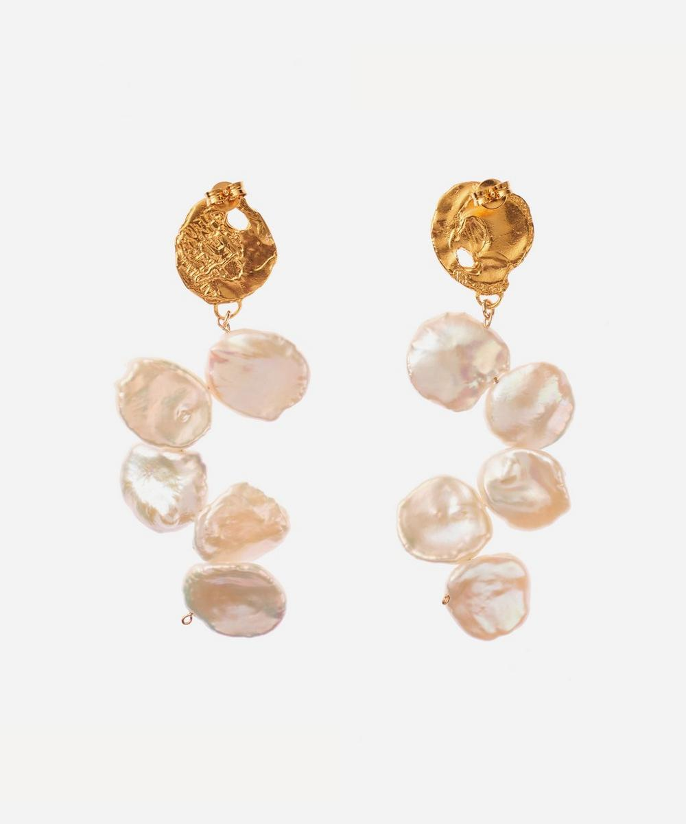 Alighieri - Gold-Plated La Jetée Pearl Drop Earrings