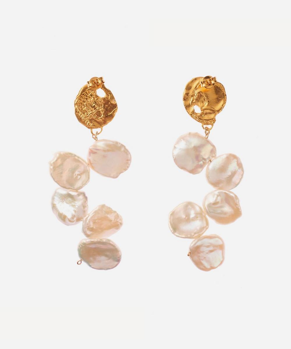 Alighieri - Gold-Plated La Jetée Pearl Drop Earrings