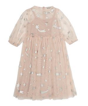 Foil Stars Tulle Dress 2-8 Years