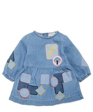 Denim Dress with Patches 3 Months-3 Years