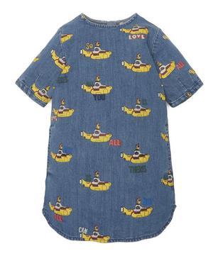 Yellow Submarine Denim Dress 2-8 Years