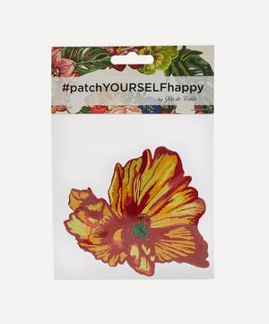 Yellow Poppy Embroidered Patch