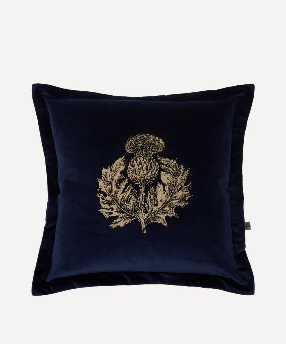 Timorous Beasties - Thistle Cotton Velvet Cushion