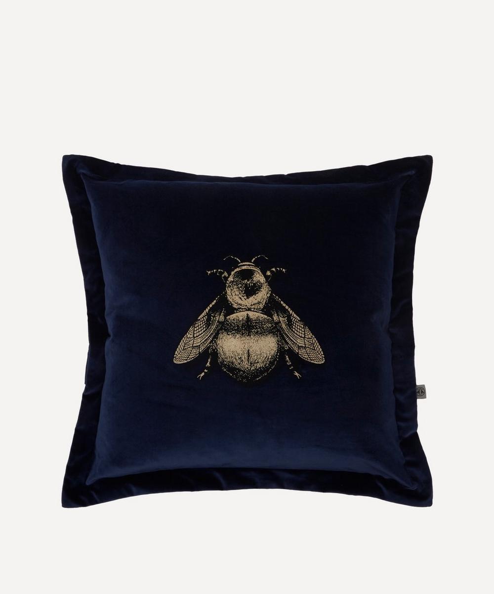 Timorous Beasties - Napoleon Bee Cotton Velvet Cushion