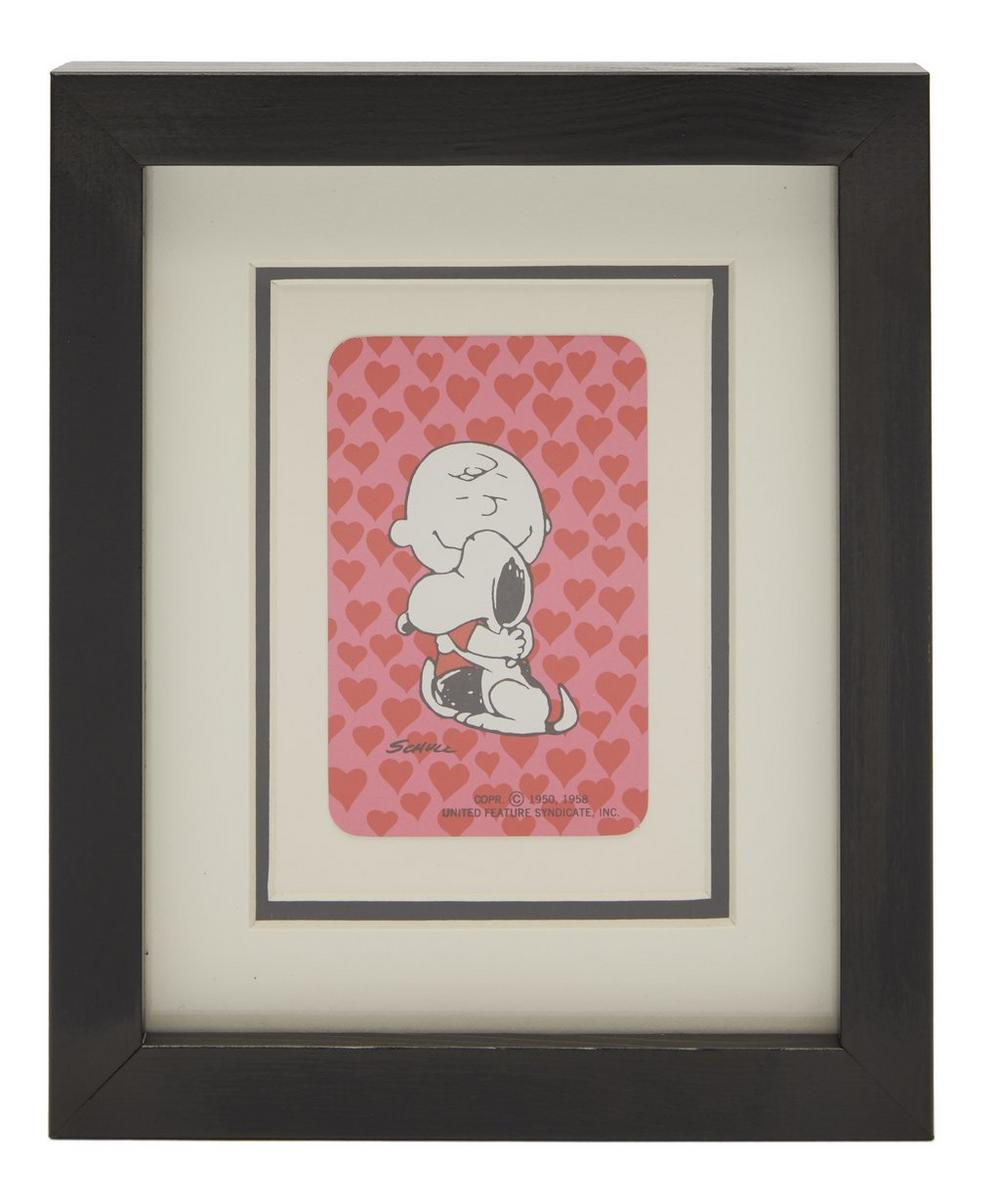 Vintage Playing Cards - Charlie Brown and Snoopy Vintage Framed Playing Card