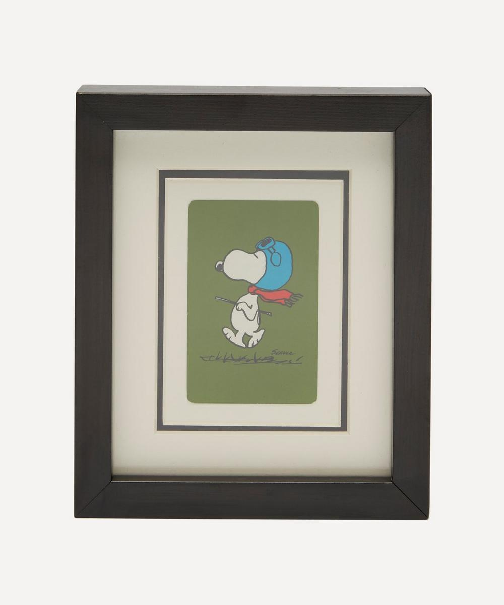 Vintage Playing Cards - Snoopy Vintage Framed Playing Card