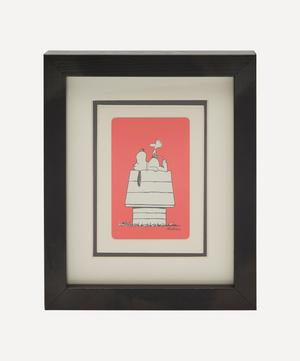 Snoopy and Woodhouse Vintage Framed Playing Card