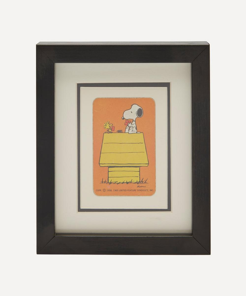 Vintage Playing Cards - Snoopy Kennel Vintage Framed Playing Card