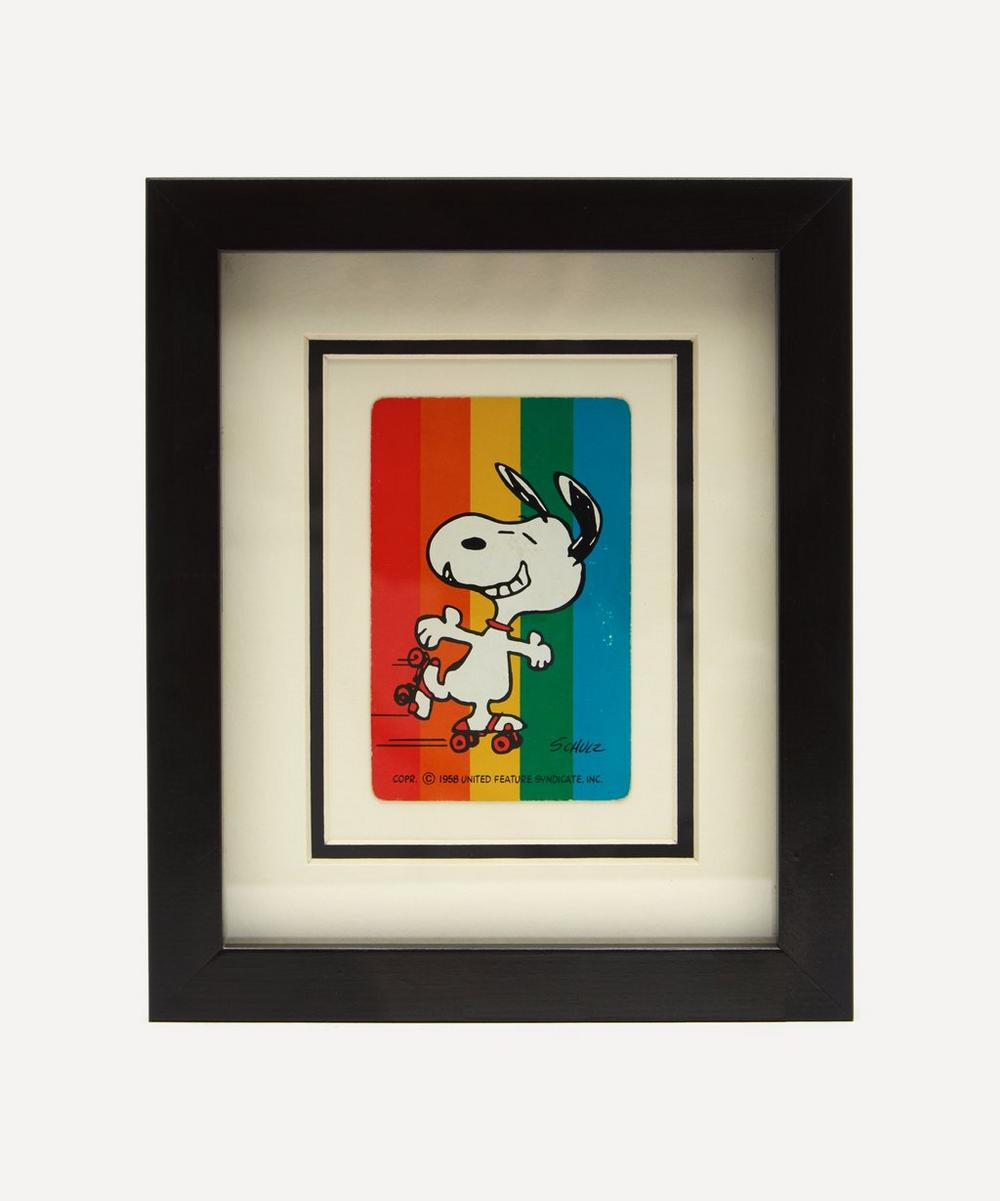 Vintage Playing Cards - Snoopy Rainbow Vintage Framed Playing Card