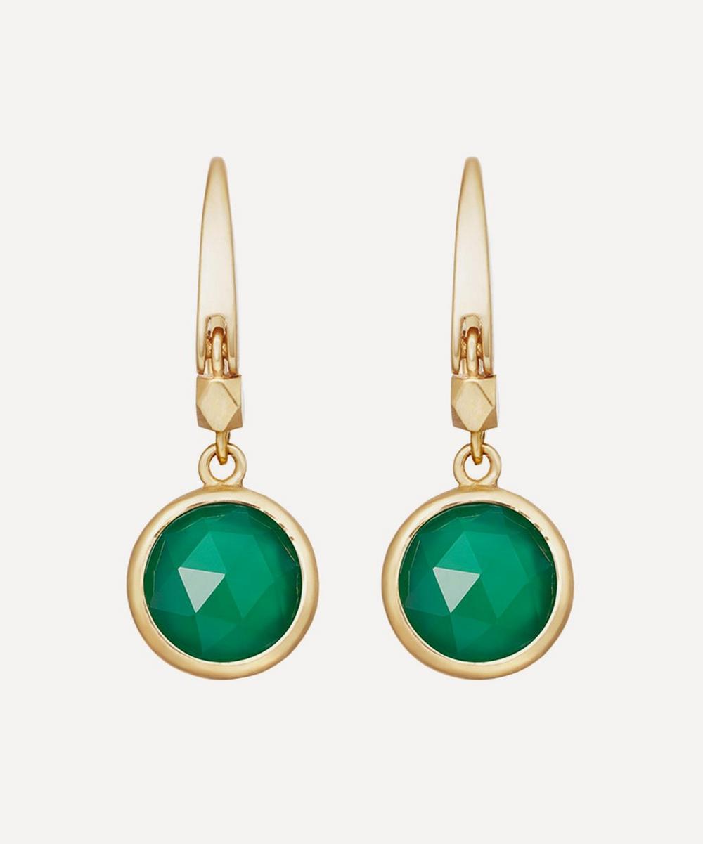 Astley Clarke - Gold Plated Vermeil Silver Stilla Green Onyx Drop Earrings