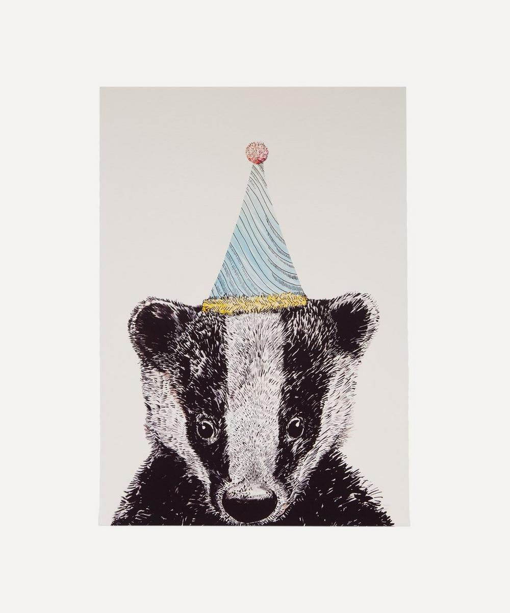 Max Made Me Do It - Party Badger A3 Print